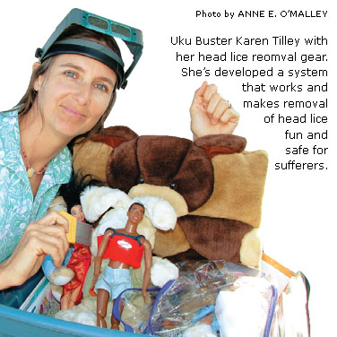News kaua 39 i woman a world class uku 39 buster 39 for Can head lice transfer in swimming pools